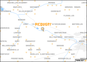 map of Picquigny