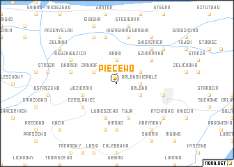 map of Piecewo
