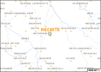 map of Piecorto