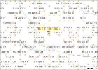 map of Pieczonogi