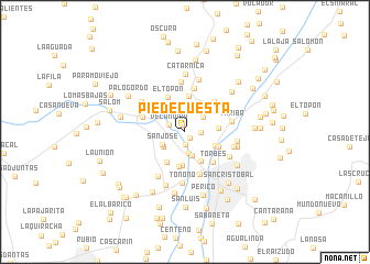 map of Pie de Cuesta