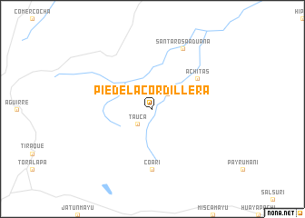map of Pie de la Cordillera