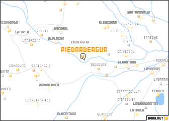 map of Piedra de Agua