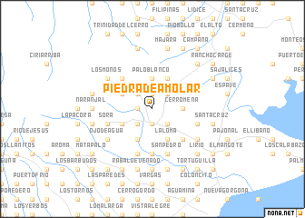 map of Piedra de Amolar