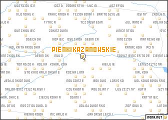 map of Pieńki Kazanowskie