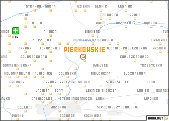 map of Pierkowskie