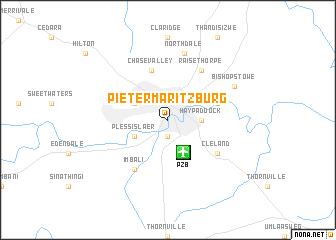 Pietermaritzburg (South Africa) map   nona.net