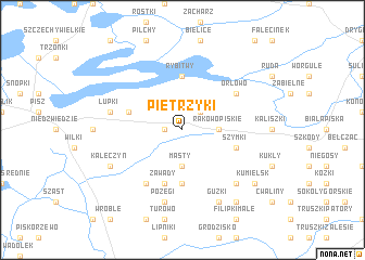 map of Pietrzyki