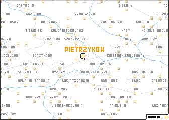 map of Pietrzyków