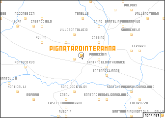 map of Pignataro Interamna
