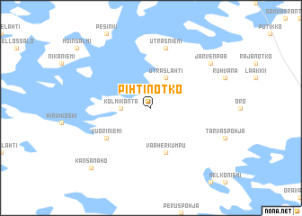 map of Pihtinotko