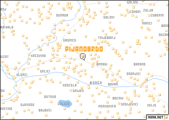 map of Pijano Brdo