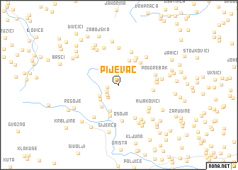 map of Pijevac