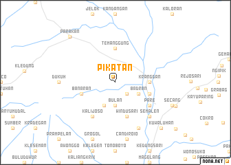 map of Pikatan