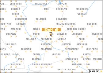 map of Piktaičiai