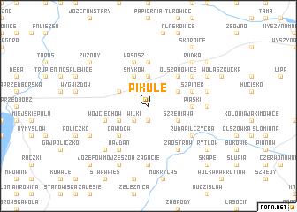 map of Pikule