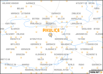 map of Pikulice