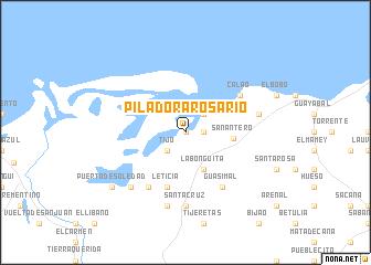 map of Piladora Rosario