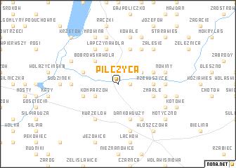 map of Pilczyca