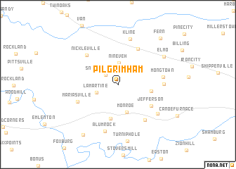 map of Pilgrimham