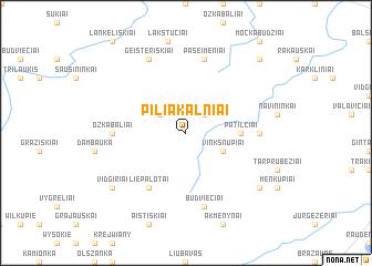 map of Piliakalniai