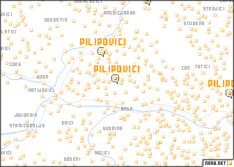 map of Pilipovići