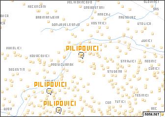 map of Pilipovići