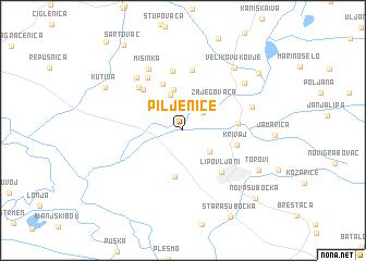 map of Piljenice