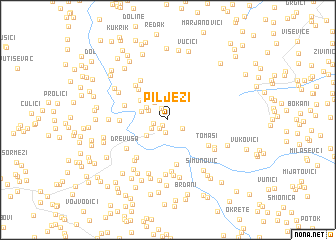 map of Pilježi