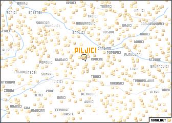 map of Piljići