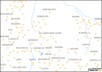 map of Cerro Pillune Achaca