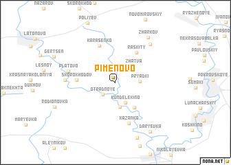 map of Pimenovo
