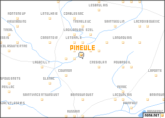 map of Pimeule