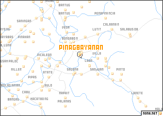 map of Pinagbayanan
