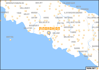 map of Pinamahian