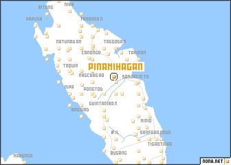 map of Pinamihagan