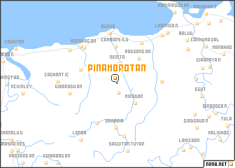 map of Pinamorotan