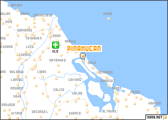 map of Pinamuc-an