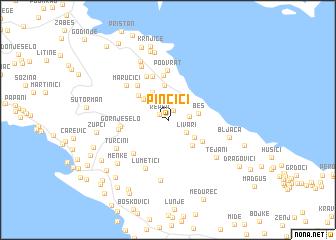 map of Pinčići