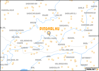 map of Pind Malhu