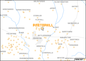 map of Pine Top Hill