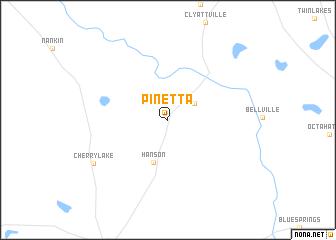 map of Pinetta