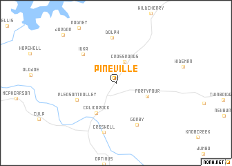 map of Pineville