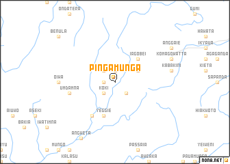 map of Pingamunga