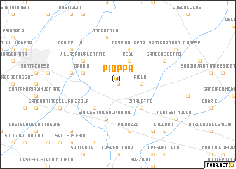 map of Pioppa