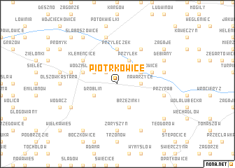 map of Piotrkowice