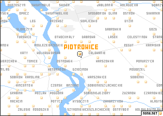 map of Piotrowice