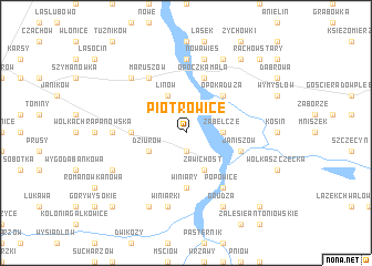 map of Piotrowice