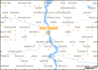 map of Piotrowin