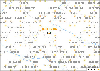 map of Piotrów